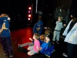 NSKA Drama Group Rehearsing